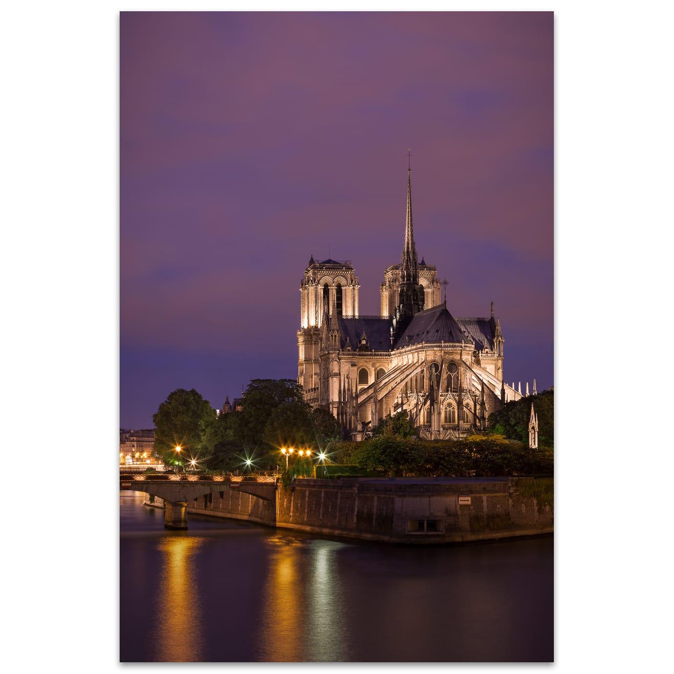 Heures Bleues à Notre Dame de Paris en France.