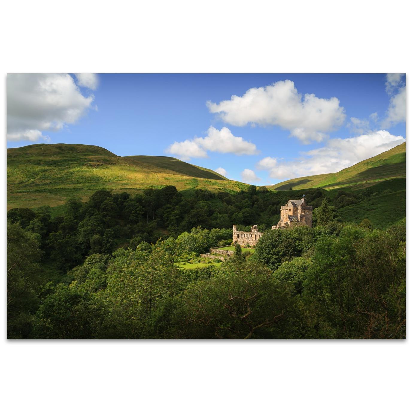 Castle Campbell near Dollar in Scotland