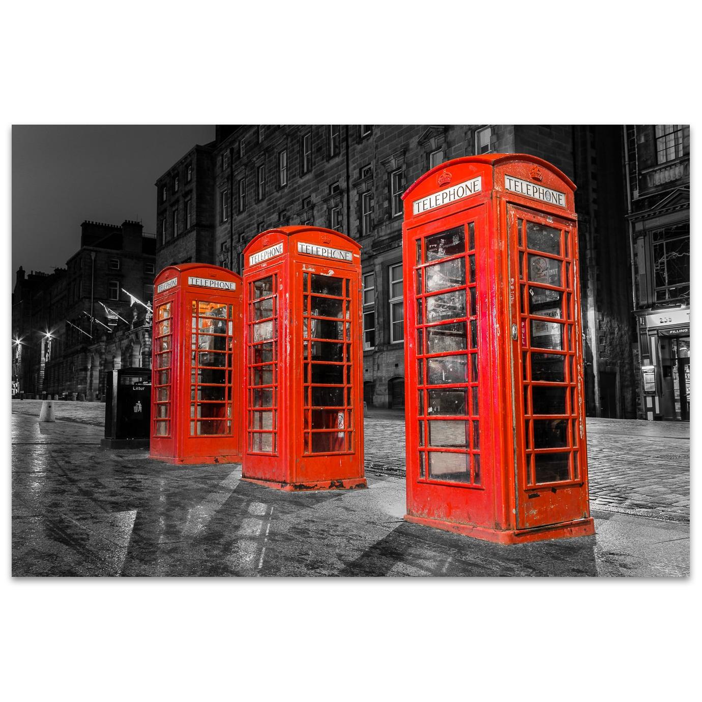 Les cabines téléphoniques royales dans Édimbourg en Écosse
