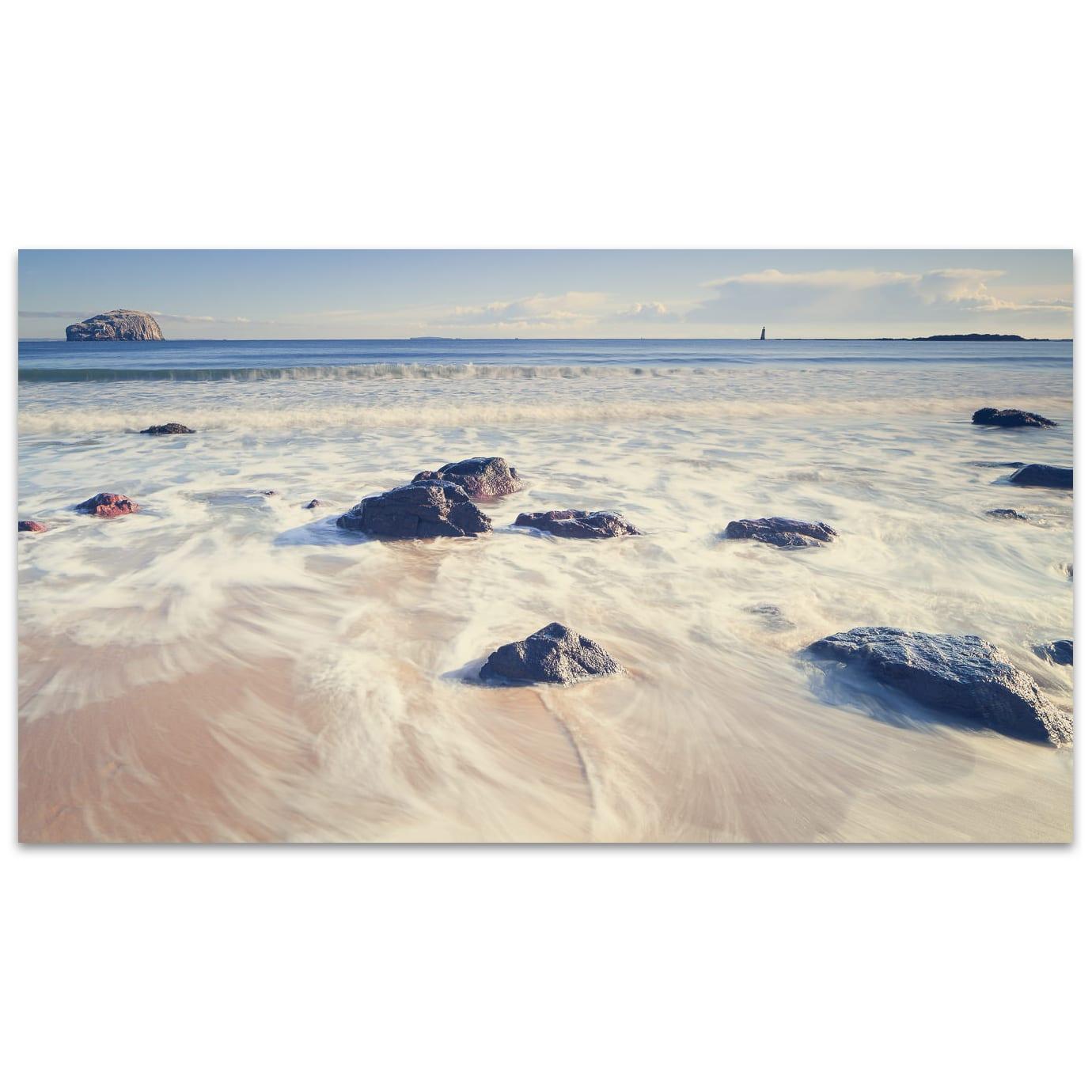 Seacliff beach in East Lothian in Scotland