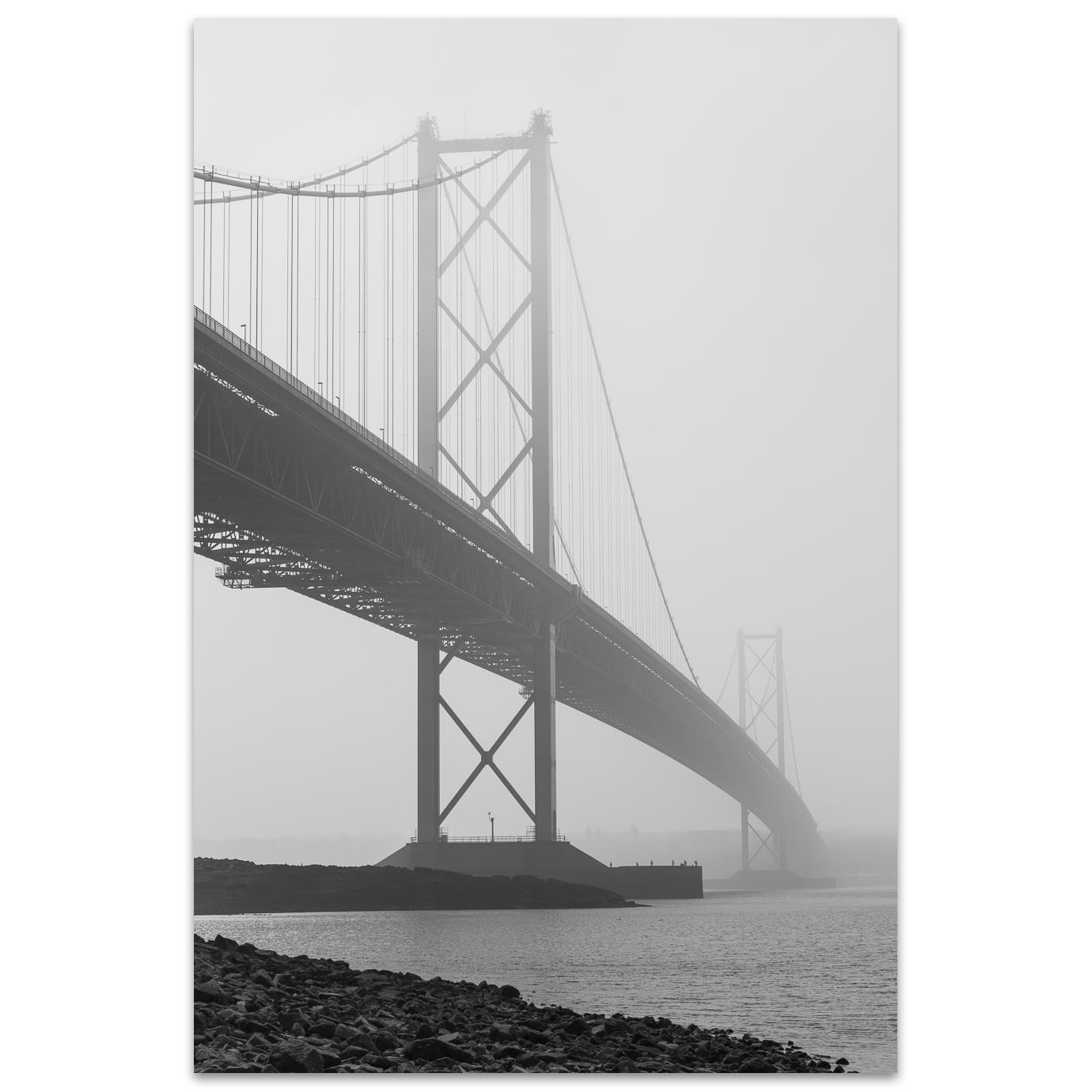 The Forth Road Bridge near Edinburgh Scotland
