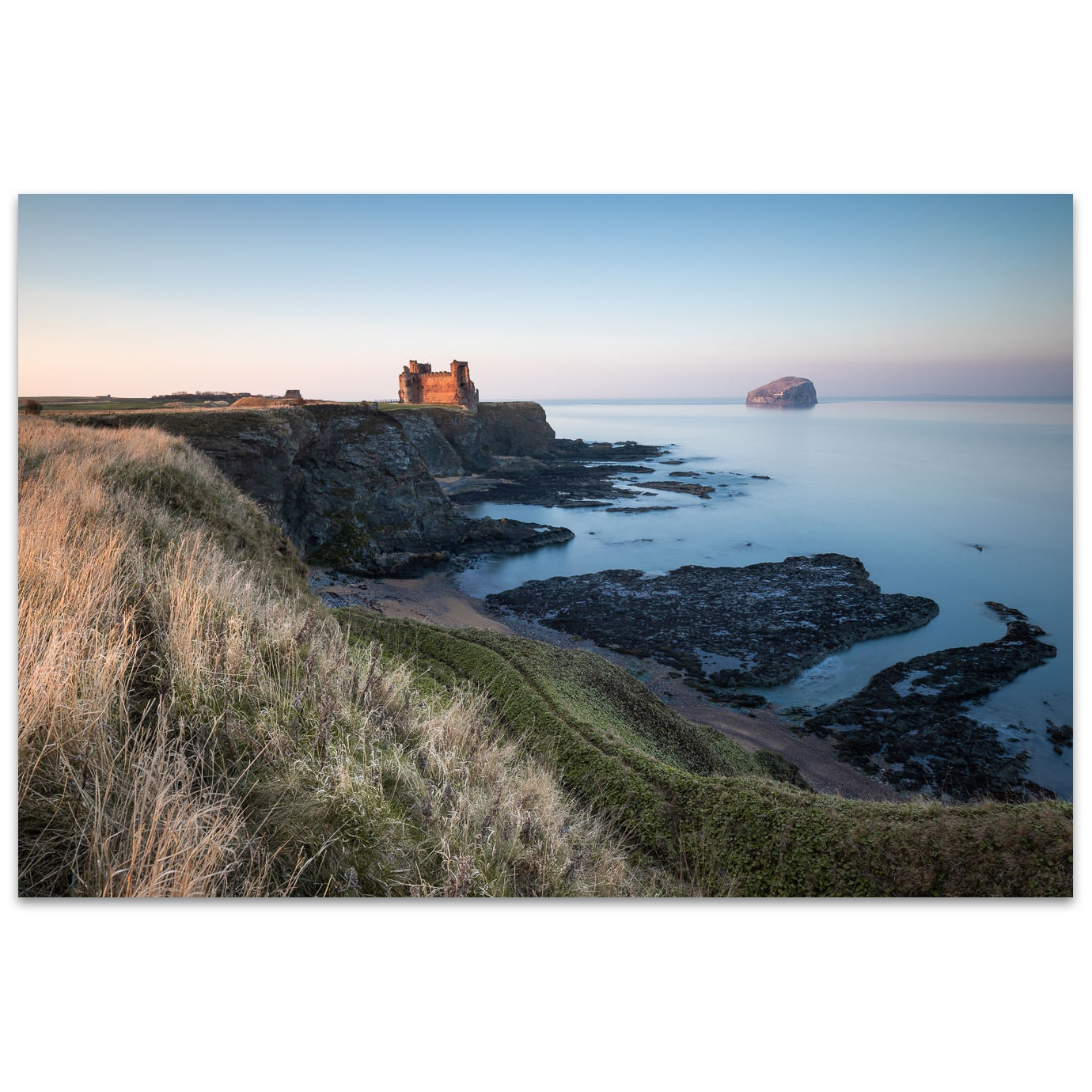 Sunset on Tantallon Castle Scotland