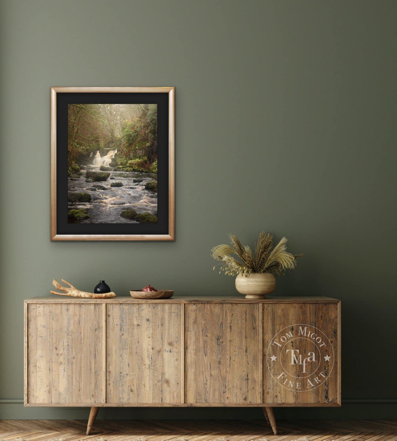 Linhouse Water Falls in Scotland room